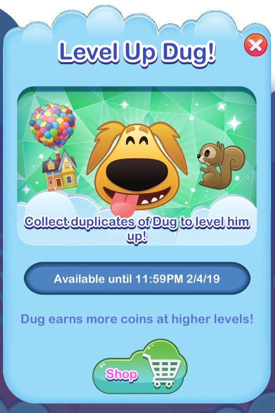 Dug Level Up Event